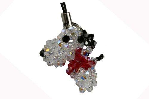 Swarovski Crystal Cell Phone Charm - Snoopy - Red (Swarovski Charm Phone)