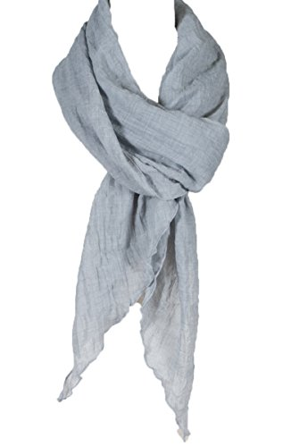 Cotton Solid Color wrinkle Linen Scarf, fashion scarf, multi color, beach scarf ()