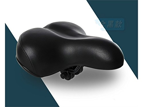 OVIIVO Easy Installation Soft Bike Seat Cover Elastic Sponge Saddle Cove(Black) by OVIIVO