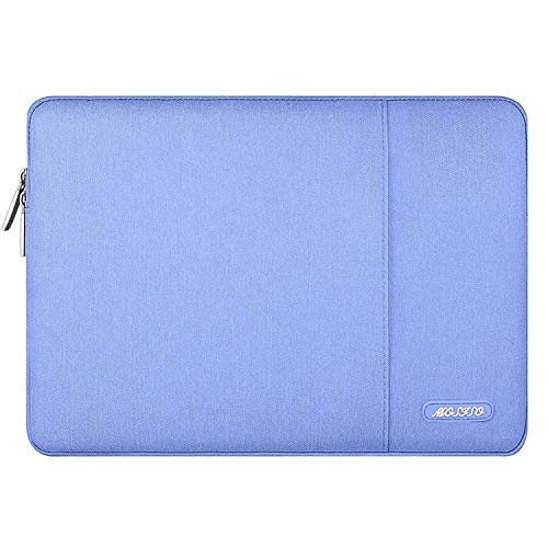 MOSISO Laptop Sleeve Compatible with 2019 2018 MacBook Air 13 inch Retina Display A1932, 13 inch MacBook Pro A2159 A1989 A1706 A1708, Notebook, Polyester Vertical Bag with Pocket, Serenity Blue
