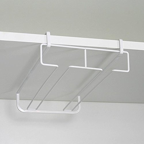 WXLAA Durable Stainless Steel Kitchen Bar Champagne Wine Glasses Holder Goblet Rack Wall Hanging Cup Storage by WXLAA