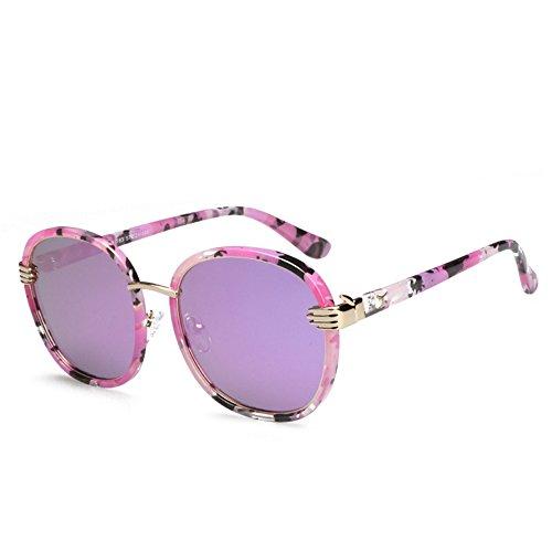 métal polarisées de ronde soleil uv400 et de soleil femmes lunettes pare haute qualité soleil GAOLIXIA Mode classiques hommes lunettes de protection Violet 5UOawq75dx