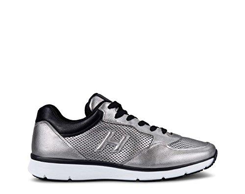 Hogan メンズ HXM2540T780G8F2700 シルバー 革 運動靴 B07BBNCPMS