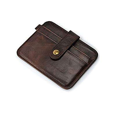 Money clip Leather Credit Card Wallet Front Pocket Slim Card Wallet Useful Credit Card Wallets Small Purse RFID Blocking The Caillu