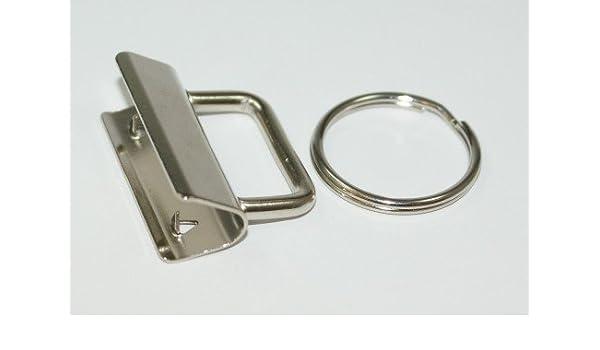 Anilla y cierre de pinza para llaveros (para bandas de 25 mm ...