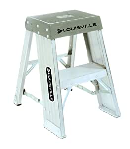 Louisville Ladder AY8002 Aluminum Step Stands 2 Feet, 300 Pound Duty Rating