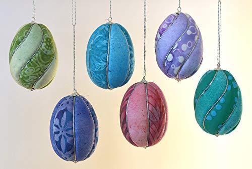 Easter Egg Ornaments, Bright Batiks, Set of 6 ()