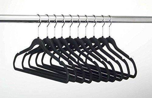 Velvet Non Slip Suit Clothes Hangers, Reinforced Lightweight & Durable (Closet Organizer Michael Graves)