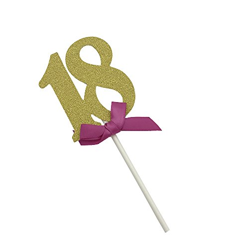 Ecago 18th Birthday Cupcake Toppers18th Decoration Pack Of 12 S973