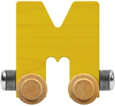 Maple Landmark NameTrain Bright Letter Car M - Made in USA (Yellow)