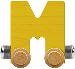 product image for Maple Landmark NameTrain Bright Letter Car M - Made in USA (Yellow)