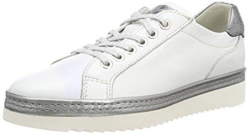 Sioux Vrouwen Oxiria-700-xl Sneaker Wit (wit / Metaal)