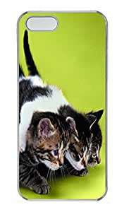 iPhone 5S Case Three Kittens Ready To Start PC Custom iPhone 5/5S Case Cover Transparent