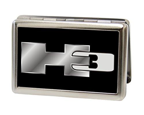 Hummer - H3 Black/Silver Logo - Metal Multi-Use Wallet Business Card Holder