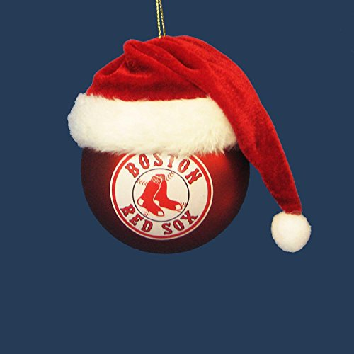 """3"""" Red and White MLB Boston Red Sox Shatterproof Christmas Ball Ornament (75mm)"""
