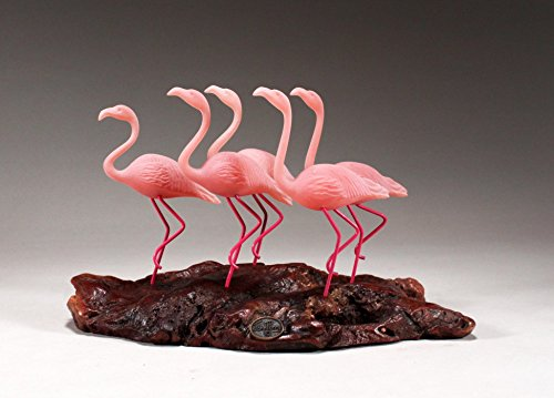 Flamingo Flock of 5 Sculpture New Direct by John Perry Statue Art 7in Long