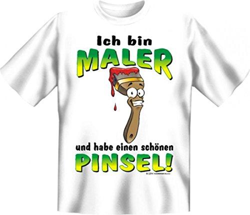 Witziges T-Shirt für Maler mit Humor - Ich habe einen schönen Pinsel - lustiges Funshirt für Beruf und Handwerk
