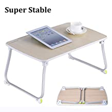 [Small Size] Avantree Quality Multipurpose Laptop Table, Sturdy Bed Tray Table, Foldable TV Tray, Portable Standing Desk, Notebook Stand Reading Holder for Couch - TB903S