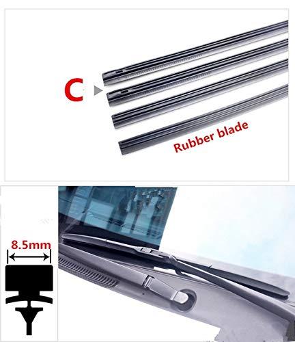 Wipers Car Wiper Blade Insert Rubber strip (Refill) for mazda cx-7 cx-5 cx-3 cx-8 cx-9 cx 3 5 7 8 9 atenza axela 2016 2017 accessories - (Item Length: 16