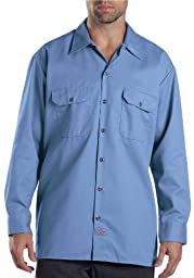 Dickies 574 Long Sleeve Work Shirt (Gulf Blue;4 Tall)