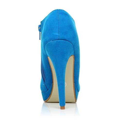 Turquoise ShuWish Daim Talon Imitation Aiguille Bottines UK H20 wwq68