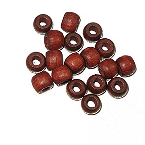 (General 100+ Wooden Crow Beads Mahogany 6mm Wood Craft Bead 11)