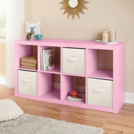 Better Homes and Gardens Furniture 8-Cube Room Organizer (Pink) - Garden Room Furniture