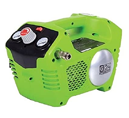 Greenworks 074100302 Compresor De Aire Inalámbrico 24 V, Verde
