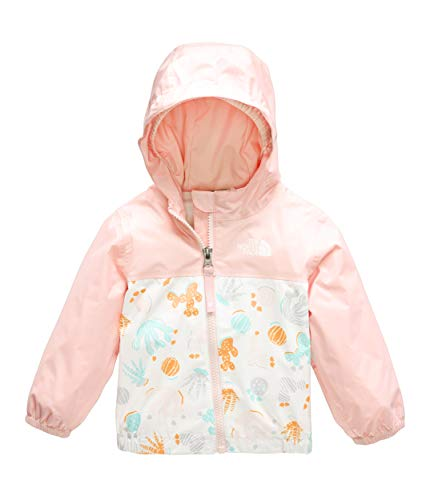 The North Face Kids Unisex Zipline Rain Jacket (Infant) TNF White Cactus Lino Print 18-24 Months ()