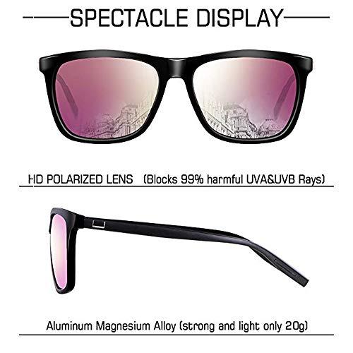 Sunglasses for Men-wearpro Polarized Vintage Men's Sun Glasses WP1003 (Black/Gun)