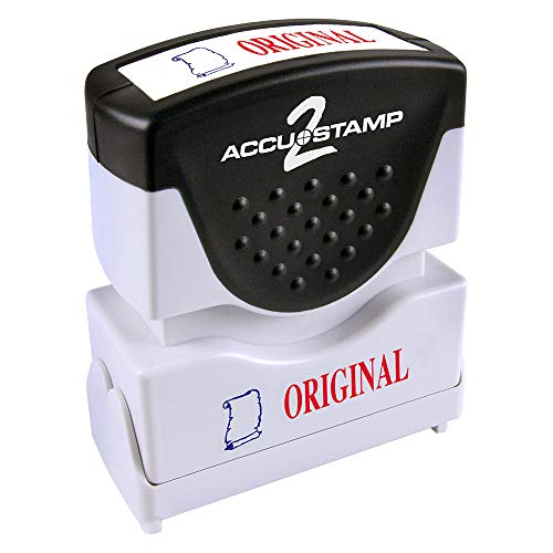 Consolidated Stamp 035540 Accustamp2 Shutter Stamp With Microban Red/blue Original 1-5/8