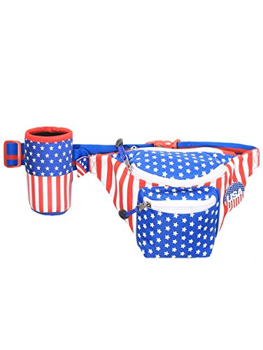 5254cad96cc American Flag USA Fanny Pack with Drink Holder - AMERICAN CHRISTIAN ...