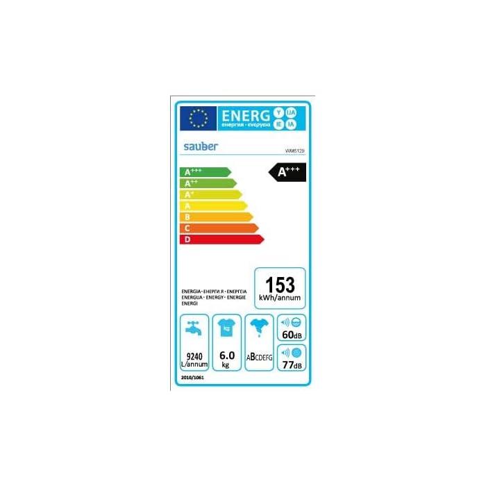 41h7uQZs3JL Haz clic aquí para comprobar si este producto es compatible con tu modelo Sauber Priority Class: ENTREGA, CONEXIÓN Y RETIRADA DEL USADO EN SU DOMICILIO INCLUIDO. Capacidad de carga (kg): 6 Kg, Clasificación Energética: A+++. Las lavadoras de la serie EcoBlue de Sauber facilitan el cuidado de tu ropa y de tu lavadora, con el menor consumo energético y fácil control.