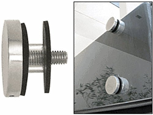 C.R. LAURENCE RCAP2BS CRL Brushed Stainless 2'' Glass Rail Standoff Cap Assembly by C.R. Laurence