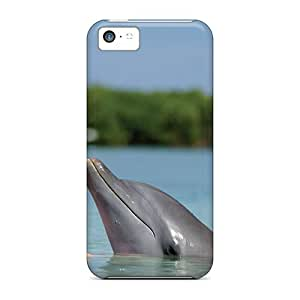 High-quality Durable Protection Case For Iphone 5c(dolphins Little Girl)