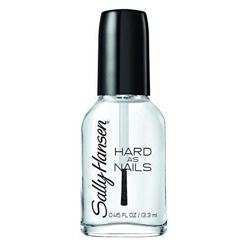Clear Nail Polish (Sally Hansen Hard as Nails Nail Polish, Crystal Clear, 0.45 Fluid Ounce)