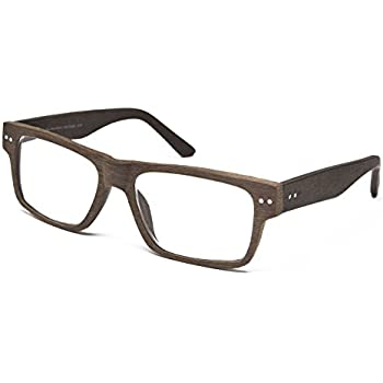 659c3fea37 Seymour and Smith Downtown Brown Designer Reading Glasses for Men and Women  Lightweight Comfy Flexible Oversized