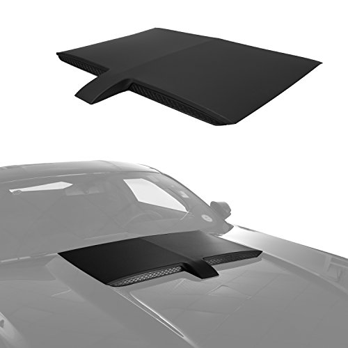 Black Injection Car Air Engine GT-Type Hood Scoop Cover for 2015 2016 2017 Ford Mustang (Hood Scoop Air)