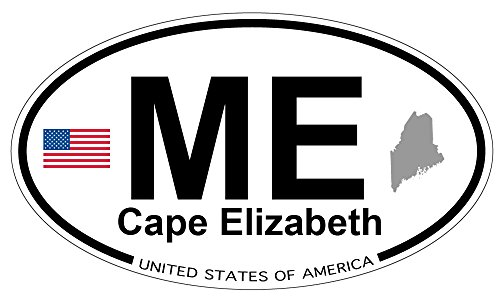 - Cape Elizabeth, Maine Oval Sticker