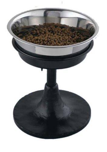 5-Quart QT Dog 5-Quart Adjustable Barstool Diner, Black