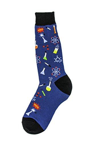 Foot Traffic, Men's Education-Themed Socks, Chemistry (Shoe Sizes 7-12) (Periodic Table Socks)