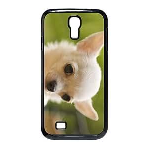 Perros de Chihuahua perro Antecedentes de Escritorio PICS funda Samsung Galaxy S4 9500 funda teléfono celular de cubierta negro, funda de plástico caja del teléfono celular