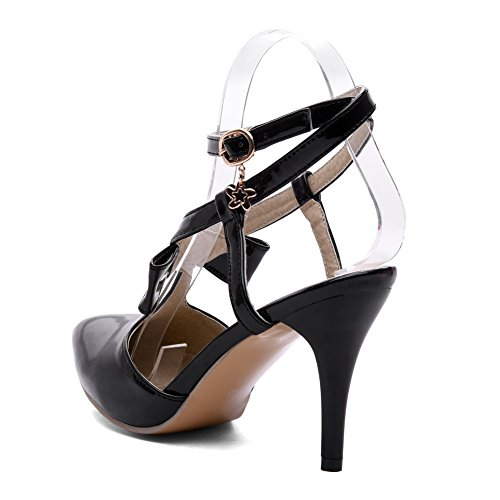 MJS03113 Huarache Structured Urethane 1TO9 Womens Dress Black Sandals CPxq1CwY