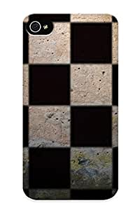 Armandcaron Scratch-free Phone Case For Iphone 4/4s- Retail Packaging - Checkered Pattern hjbrhga1544