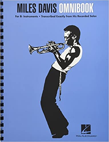 Mile Davis's Omnibook with his Jazz trumpet sheet music transcriptions