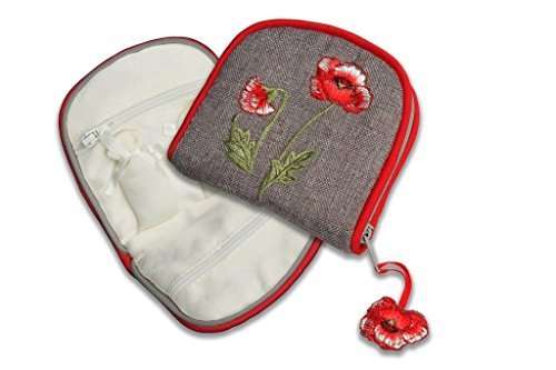 Jewelry Purse in a Poppies Design