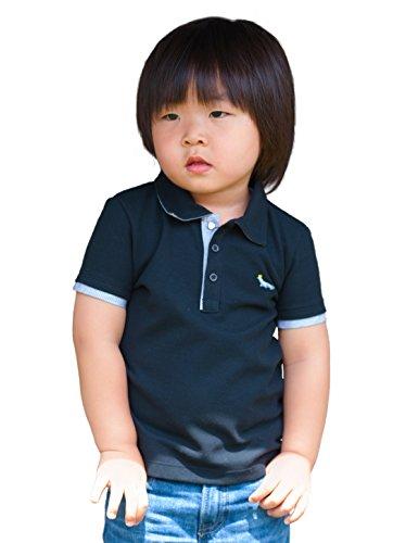 - Dakomoda Boys' Short Sleeve Pique Polo Shirt Black - 100% Pima Cotton 4T