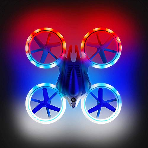 Mini Drones for Kids - UFO 4000 360 Flip Stunt Drone Multicolor LED RC Quadcopter Gifts for Boys and Girls ()