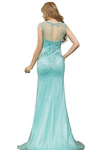 Promgirl House Damen Luxus Rundkragen Mermaid Abendkleider Lang Ballkleider  Festkleider Partykleider 2015