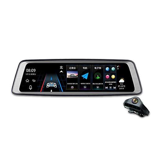 YTBLF Reproductor Multimedia de Pantalla Completa Reproductor retrovisor con Espejo retrovisor 1080P Navegación con Android...